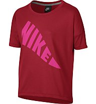 Nike Girls' Sportswear Top T-Shirt fitness ragazza, Red
