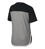 Nike Girl's Sportswear Training Top - T-Shirt - Mädchen, Black/Grey