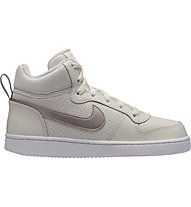 Nike Girls' Nike Court Borough Mid (GS) - scarpe da basket - donna, White