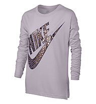 Nike Girls' Sportswear Top Longsleeve Shirt Fitness/Training Mädchen, Rose
