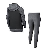 Nike Girls Sportswear Track Suit - Trainingsanzug Mädchen, Grey/Black