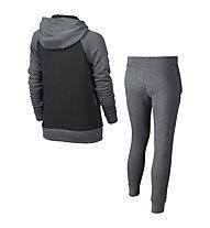 Nike Girls Sportswear Track Suit Tuta da ginnastica Bambina, Grey/Black