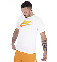 Nike Gradient Futura - T-shirt - Herren, White/Orange