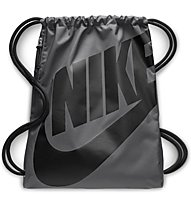 Nike Heritage Gymsack - Schuhbeutel, Grey/Black