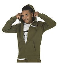Nike Hoodie FZ Fleece - giacca con cappuccio - uomo, Olive Green