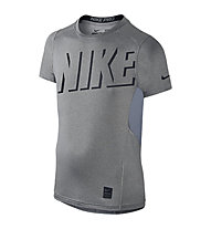 Nike Hypercool Fitted Shirt Jungen, Karbon Grey/Black
