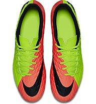 Nike Hypervenom Phade III SG - Fußballschuh für weichen Boden, Electric Green/Hyper Orange