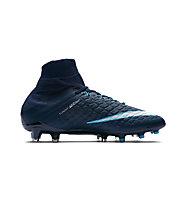 Nike JR Hypervenom Phantom 3 FD FG - scarpe da calcio per terreni compatti - bambino, Blue