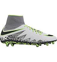 Nike HyperVenom Phantom II FG - Fußballschuhe fester Boden, Platinum/Green