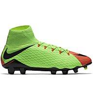 Nike Hypervenom Phatal III Dynamic Fit (FG) - Fußballschuh für festen Boden, Electric Green/Hyper Orange