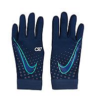 Nike HyperWarm Academy CR7 Jr - guanti calcio - bambino, Blue/Silver/Purple