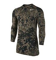 Nike Hyperwarm Compression Ambush maglietta manica lunga, Cargo Khaki/Black/White