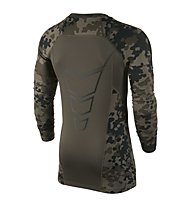 Nike Hyperwarm Compression Ambush Shirt Langarm, Cargo Khaki/Black/White