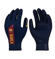 Nike HyperWarm FC Barcelona Academy - guanti da portiere - bambino, Blue/Red