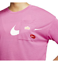 Nike Icon Clash Training - T-shirt fitness e training - donna, Pink