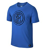 Nike Inter Mailand Crest T-Shirt, Black/Blue