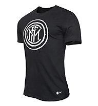 Nike Inter Mailand Crest T-Shirt, Black
