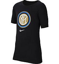 Nike Inter Evergreen Crest - Fußballshirt - Kinder, Black