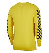 Nike Inter Men's Long-Sleeve T-Shirt - Langärmeliges Fußballtrikot, Yellow