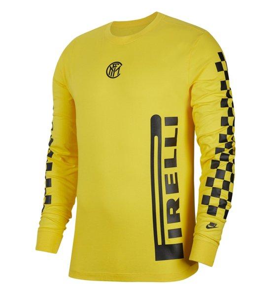 Nike Inter Men's Long Sleeve T Shirt maglia calcio a manica lunga  