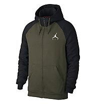 Nike Jordan Sportswear Jumpman Fleece Men's Full-Zip Hoodie - Kapuzenjacke - Herren, Black/Dark Green