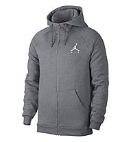 Nike Jordan Sportswear Jumpman Fleece Men's Full-Zip Hoodie - felpa con cappuccio, Grey