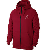 Nike Jordan Sportswear Jumpman Fleece Men's Full-Zip Hoodie - felpa con cappuccio, Red