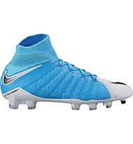 Nike JR Hypervenom Phantom 3 FD FG - Fußballschuh - Kinder, Blue/White