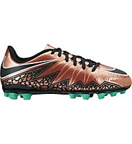 Nike Jr. Hypervenom Phelon II AG - Scarpe calcio bambini, Brown/Black/Turquoise