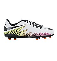 Nike JR Hypervenom Phelon II FG - scarpe da calcio bambino, White/Black