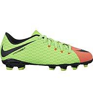 Nike Hypervenom Phelon III FG - Fußballschuhe für festen Boden, Electric Green