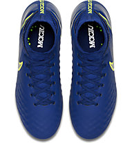 Nike Jr Magista Obra II FG - scarpa calcio terreni compatti bambino, Blue/Black