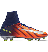 Nike Jr. Mercurial Superfly V FG - Fußballschuh - Kinder, Blue/Orange