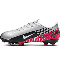 Nike JR Mercurial Vapor 13 Academy Neymar Jr. MG - scarpe da calcio multiterreno - ragazzo, Chrome/Black