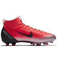 Nike JR Superfly 6 Academy GS CR7 FG/MG - scarpe da calcio multiground, Dark Orange/Black