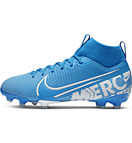 Nike Jr. Superfly 7 Academy FG/MG - Fußballschuhe Multiground, Light Blue