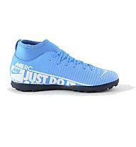 Nike JR Superfly 7 CLUB TF - scarpe da calcio terreni duri, Light Blue