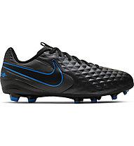 Nike Jr. Tiempo Legend 8 Academy MG - scarpe da calcio multiterreno, Black/Blue