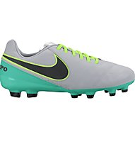 Nike Jr. Tiempo Legend VI FG - Fußballschuhe fester Boden, Grey/Turquoise