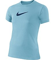 Nike Legend Girls' Short Sleeve Training Shirt - T-shirt ragazza, Vivid Sky Blue