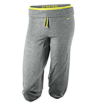 Nike Legend Obsessed Capri, Light Grey/Yellow