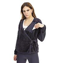 Nike LS Sherpa Top Wrap - Jacke - Damen, Black