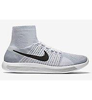 Nike Lunarepic Flyknit Scarpa Running, White/Black