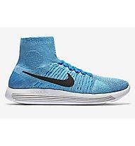 Nike Lunarepic Flyknit Scarpa Running, Gamma Blue