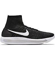 Nike Lunarepic Flyknit Laufschuh Damen, Black/White