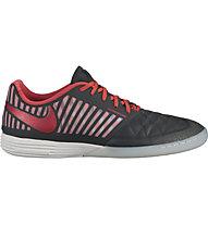 Nike LunarGato II IC - scarpa da calcio indoor, Black/Red/White