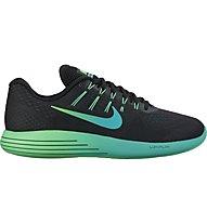 Nike LunarGlide 8 Stabil-Laufschuh Herren, Black/Green