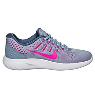 Nike LunarGlide 8 - scarpa running - donna, Grey/Pink