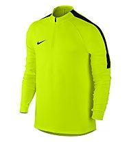 Nike Dril Top Squad Herren-Langarm-Fußballtrikot, Volt/Black