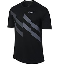Nike Breathe - Runningshirt - Herren, Black